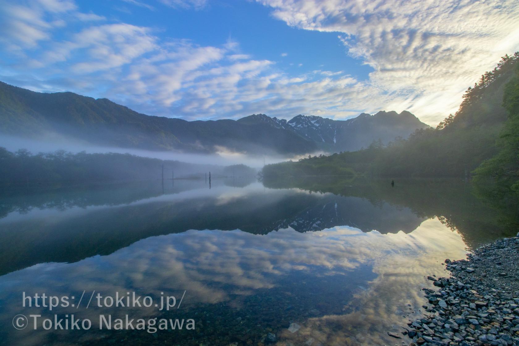 朝霧の上高地|大正池~田代池~河童橋