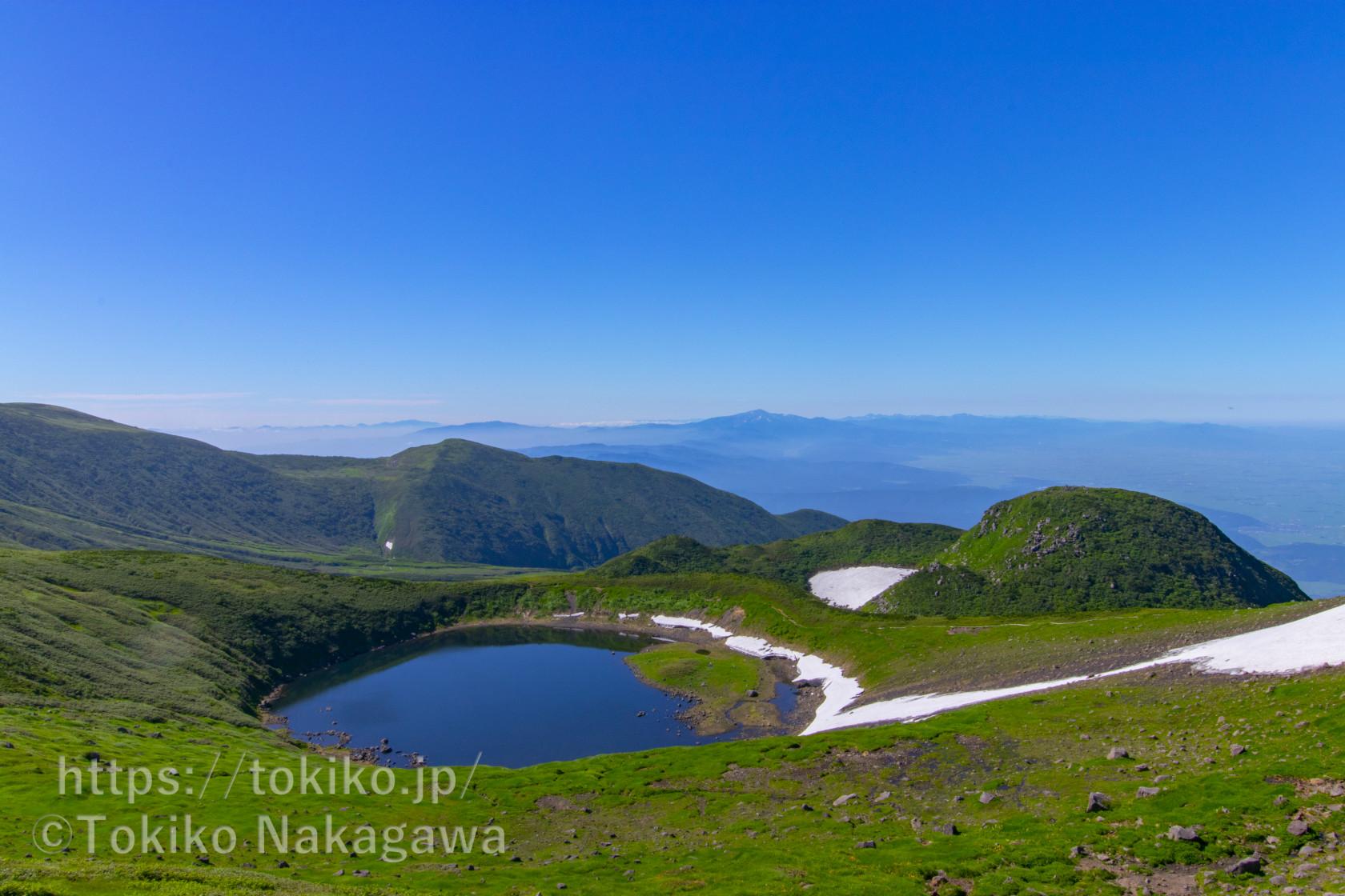 鳥海山|日本海・庄内平野・月山の眺望