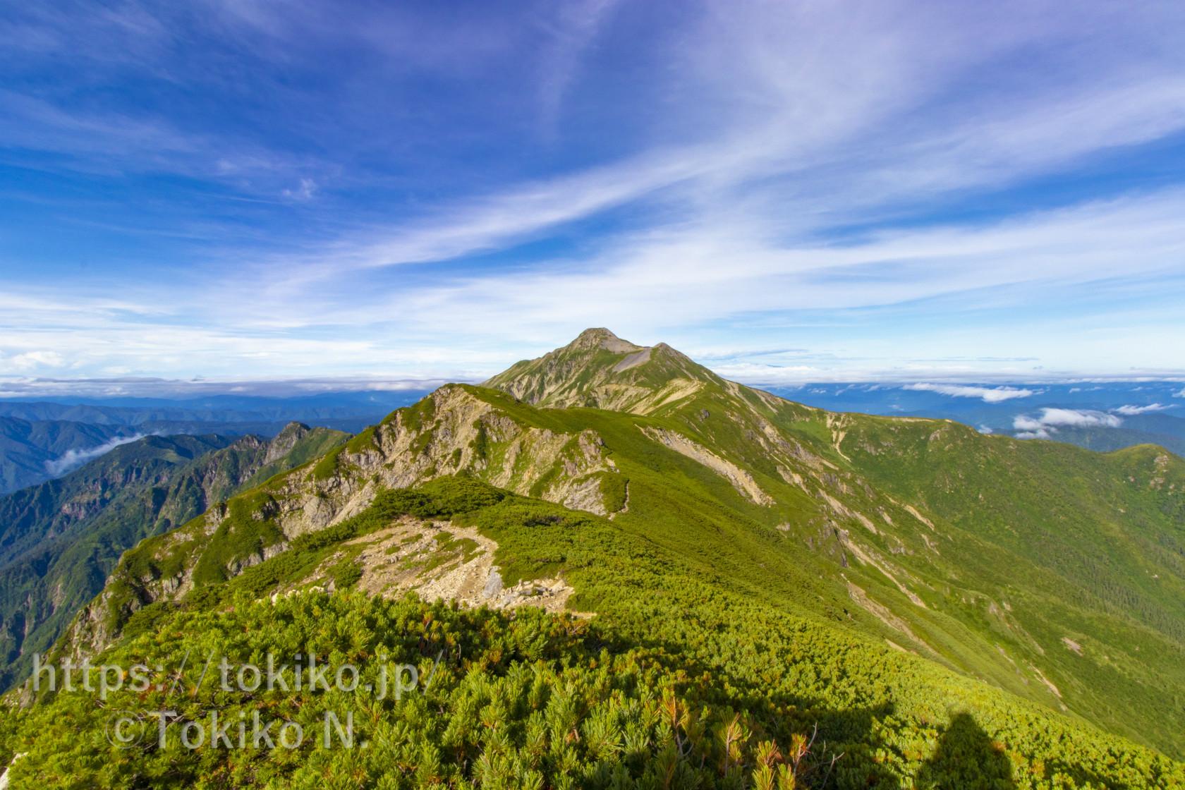 笠ヶ岳|山頂からのご来光と尾根からの景色