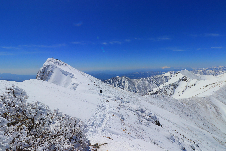 雪の谷川岳|天神平からピストン